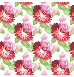 seamless rose pattern vector image vector image