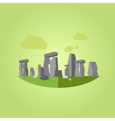 Stonehenge in Flat Style vector image vector image