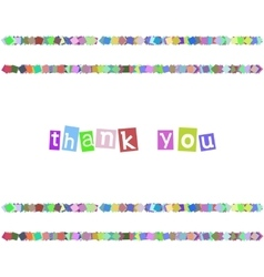 Thank you color card vector