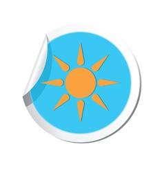 Weather forecast sun icon vector