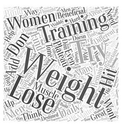 Weight training word cloud concept vector