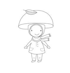 Cute little gnome mushroom for children design vector