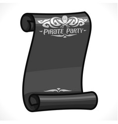 Black scroll for pirate party vector