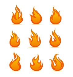 Fire warning symbols vector