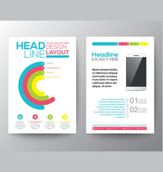 Graphic design layout with smart phone template vector