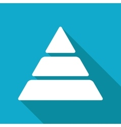 Pyramid icon eps10 vector