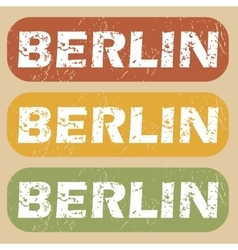 Vintage berlin stamp set vector