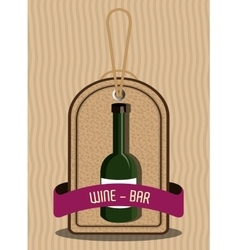 Wine and bar graphic vector