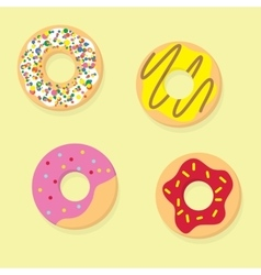 Donuts  donut icon food vector