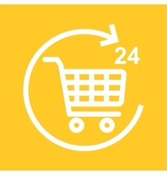 Twenty-four seven hour shopping vector