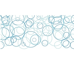 Abstract blue circles horizontal border seamless vector image