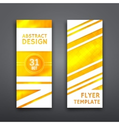 Abstract geometric brochure template flyer layout vector