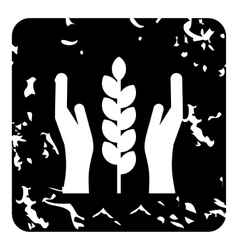 Agriculture insurance concept icon grunge style vector