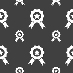 Award Medal of Honor icon sign Seamless pattern on vector image vector image