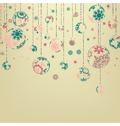 Background with christmas balls eps 8 vector