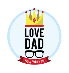 beauty card of father day with ribbon and vector image vector image