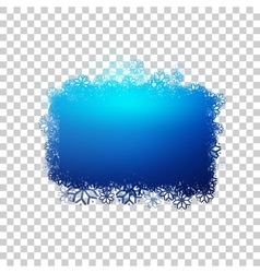 Blue baner with snowflakes vector