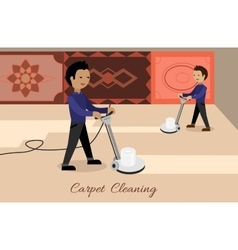 Carpet Cleaning Concept in Flat Design vector image