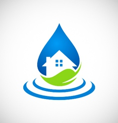 Clean house water ecology logo vector