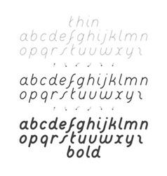 Cursive small case font vector