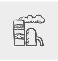 E-station sketch icon vector image