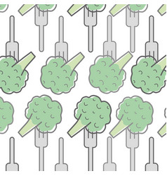 Fresh broccoli to prepair natural salad background vector
