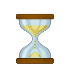 Hourglass Sand Clock on White Background vector image vector image
