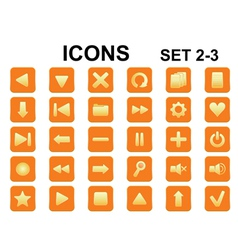 icons set2 3rounded vector image