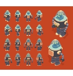 Isometric retro robot vector