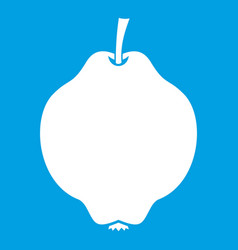 Quince fruit icon white vector