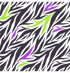 Seamless texture of crazy zebra stripes vector