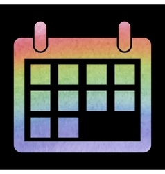 Watercolor calendar icon vector