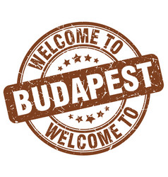 Welcome to budapest vector