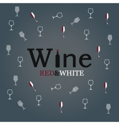 wine glass concept menu design vector image vector image