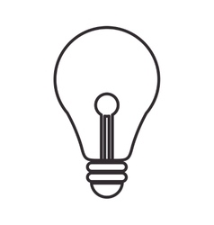 Light bulb power design vector
