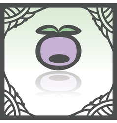 Outline plum berry icon modern infographic logo vector