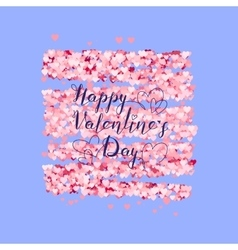 Valentines Day greeting on red hearts background vector image