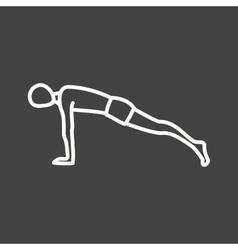Plank pose vector