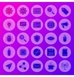 Solid circle web computer icons vector