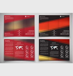 Design triple folding brochure printing and vector