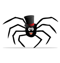 spider tophat vector image