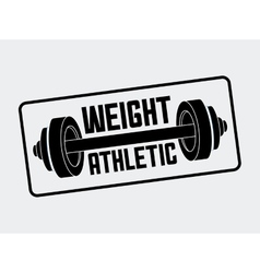 Gym label design vector