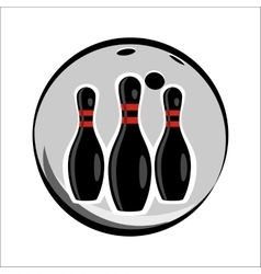 Bowling team or club emblem vector