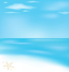 Sea and beach vector