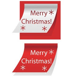 Merry Christmas written on paper vector image
