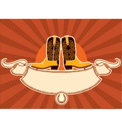 Cowboy shoes vector