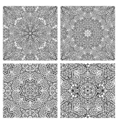Black and white abstract seamless patterns vector