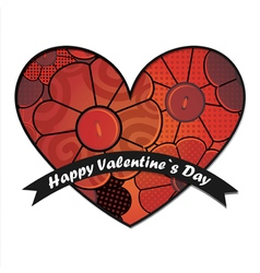 Valentine day card with flowers vector