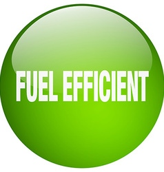 Fuel efficient green round gel isolated push vector
