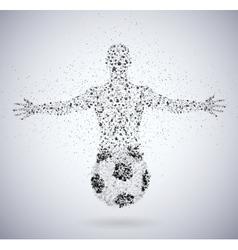 Football fan vector image